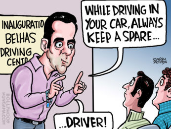 Bollywood Toons Salman Khan inaugurates driving centre!