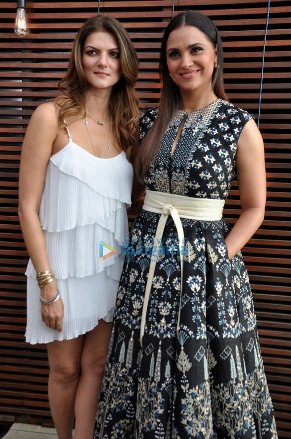Lara Dutta and Nandita Mahtani at Miss Diva promotions
