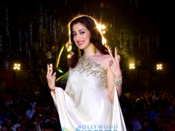 Raai Laxmi snapped attending the raas leela Navratri functions Borivali to promote her movie Julie 2