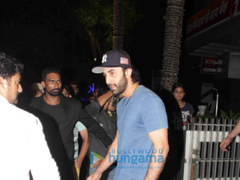Ranbir Kapoor and Aditya Roy Kapur snapped post dinner at Hakkasan