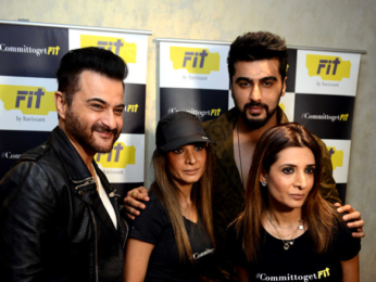 Arjun Kpaoor and Chunkey Pandey grace the launch of Fit by Ravissant in Delhi