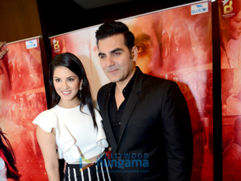 Sunny Leone & Arbaaz Khan launch the poster of 'Tera Intezaar'