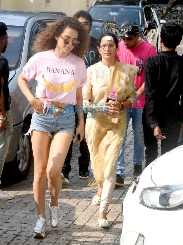 Kangana Ranaut and family snapped at PVR Juhu