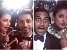 WOW! Priyanka Chopra hung out with Emmys 2017 winners Riz Ahmed and Aziz Ansari  (1)