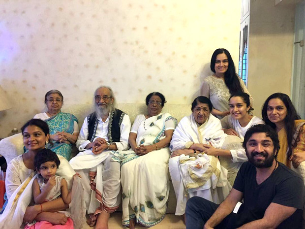 WOW! Shraddha Kapoor and her family met Lata Mangeshkar and her family before Teacher's Day