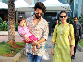 Shahid Kapoor and Mira Rajput spotted with Misha on Diwali day