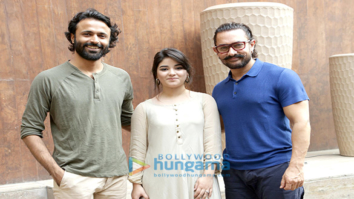 Aamir Khan and Zaira Wasim at a photoshoot in New Delhi
