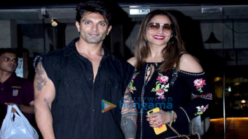 Bipasha Basu and Karan Singh Grover spotted at a restaurant