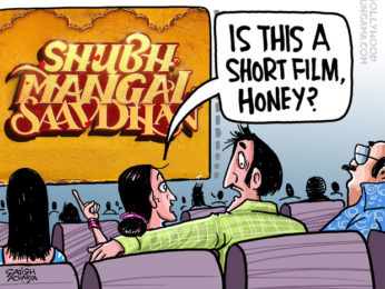 Bollywood Toons Shubh Mangal Saavdhan touches a bold subject!