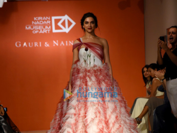 Deepika Padukone walks the ramp for Gauri & Nainika in New Delhi