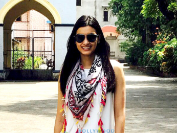 Diana Penty goes to her alma mater St Agnes High School