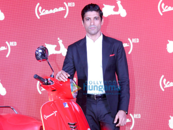 Farhan Akhtar launches 'Vespa Red' scooters