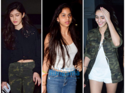 Girl gang Suhana Khan, Ananya Panday and Shanaya Kapoor enjoy a movie night-1