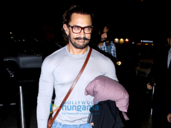 Aamir Khan and Zaira Wasim spotted at the airport