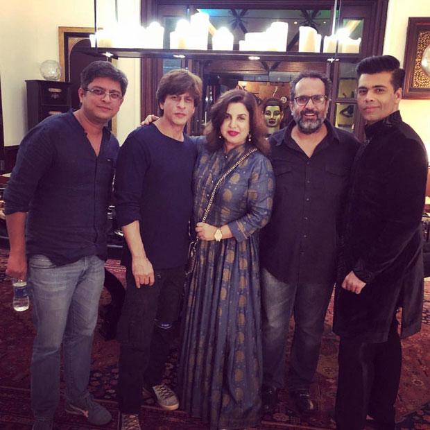 INSIDE PHOTOS Arjun Kapoor, Farah Khan, Karan Johar, Aanand L Rai and others attend Shah Rukh Khan's Diwali bash!