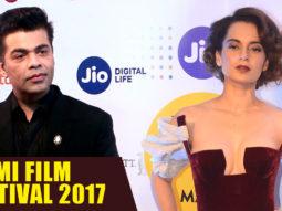Karan Johar Kangana Ranaut Together At The Opening Ceremony Of Mami Film Festival 2017