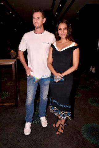 Lara Dutta and Shaun Tait snapped on sets of Miss Diva