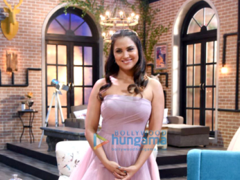 Neha Dhupia and Lara Dutta snapped on sets of the Miss Diva 2017 show