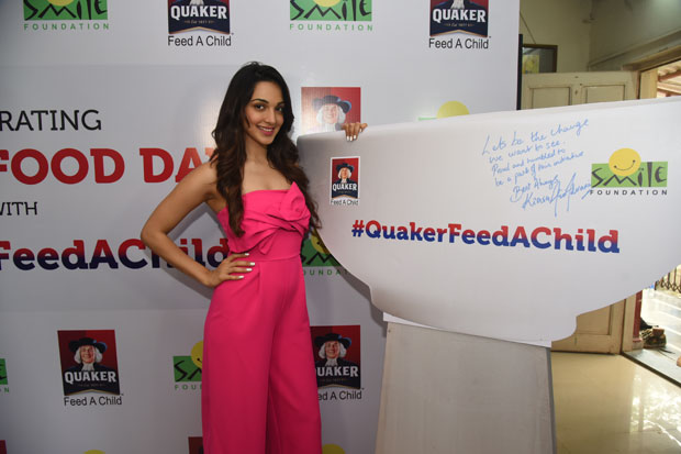 On World Food Day, Kiara Advani joins Quaker India and Smile Foundation to pledge support to 'Feed A Child' campaign-1