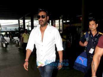 Parineeti Chopra, Arshad Warsi, Ajay Devgn airport arrive from Delhi after Golmaal Again promotions