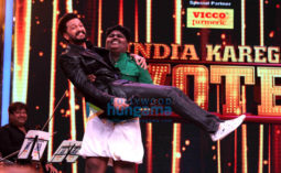 Riteish Deshmukh snapped on the sets of L'il Champs