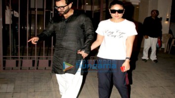 Saif Ali Khan and Kareena Kapoor Khan snapped on their anniversary
