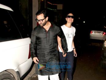 Saif Ali Khan and Kareena Kapoor Khan snapped on their anniversary