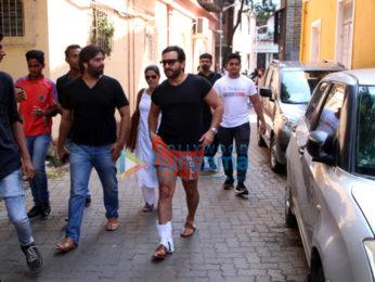 Saif Ali Khan snapped in Bandra