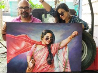 Vidya Balan an oil painting of the film poster