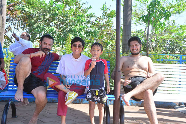 Aamir Khan and Kiran Rao celebrate Azad's sixth birthday a week before by taking him to a theme park!4
