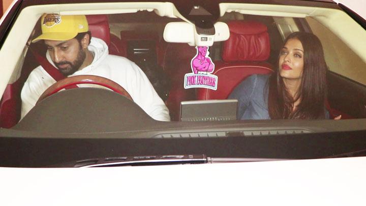 Aishwarya Rai, Abhishek Bachchan & Karan Johar SPOTTED At Manish Malhotra's House