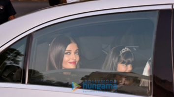 Aishwarya Rai Bachchan and Aaradhya snapped as they arrive for the former's birthday party