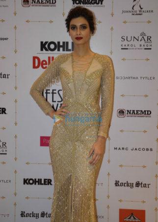 Diana Penty walk the ramp for Shane Falguni Peacock at 'Kohler Delhi Times Lifestyle Week'