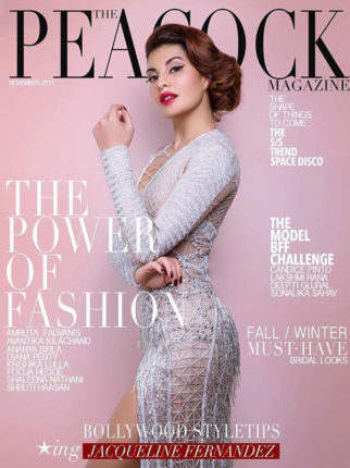 Jacqueline Fernandez shines on the cover of Peacock magazine