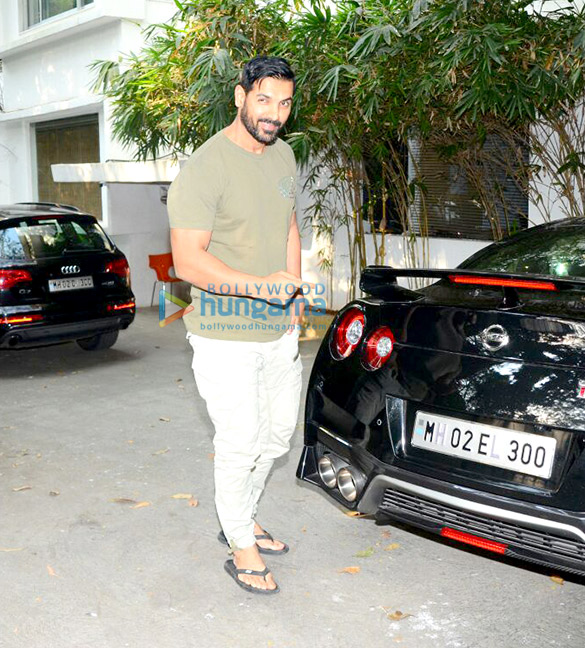 John Abraham Spotted With His Sports Car And Bike John Abraham
