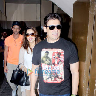 Madhuri Dixit and Hrithik Roshan snapped at PVR Juhu