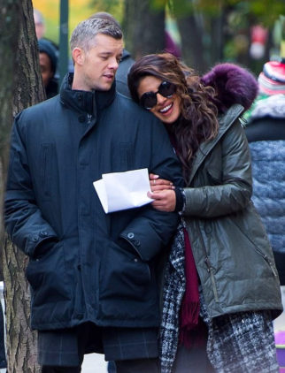 ON THE SET Priyanka Chopra surprises Quantico co-star Russell Tovey with a cake on his 36th birthday