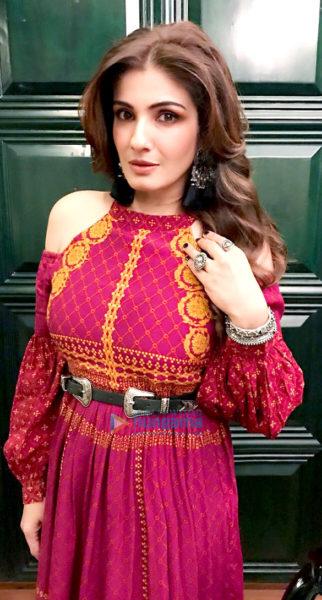 Raveena Tandon snapped in Ritu Kumar's outfit