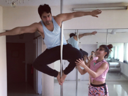 Varun Dhawan learns pole dancing from Jacqueline Fernandez
