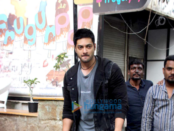 Ali Fazal snapped at a restaurant in Bandra