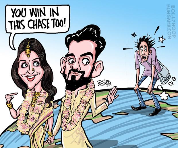 Bollywood Toons Virat Kohli and Anushka Sharma get married!