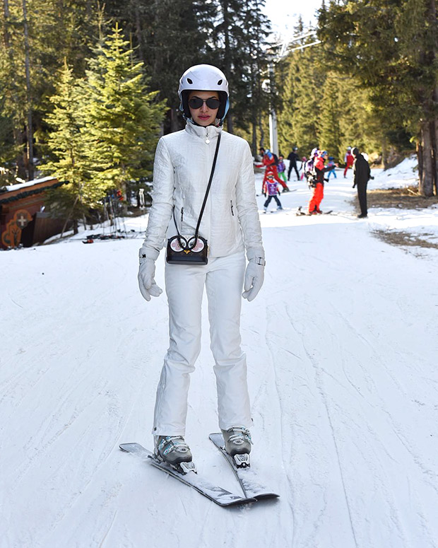 NOSTALGIA Jacqueline Fernandez shares a picture of her in a skiing costume