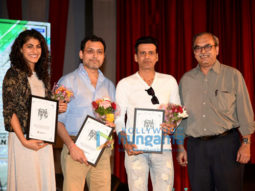 Neeraj Pandey and Manoj Bajpayee visit IIT Powai to promote their film 'Aiyaary'