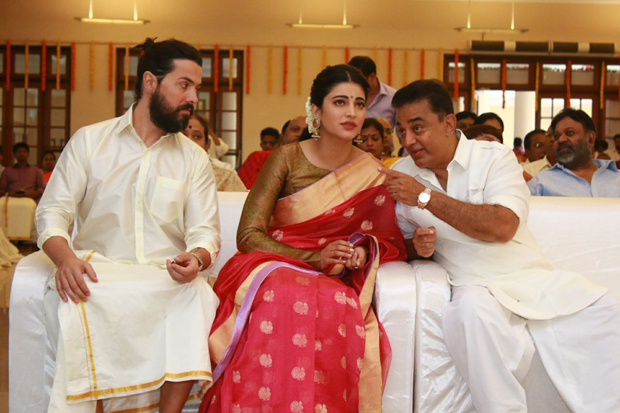 Spotted Shruti Haasan attends a friend's wedding with father-superstar Kamal H
