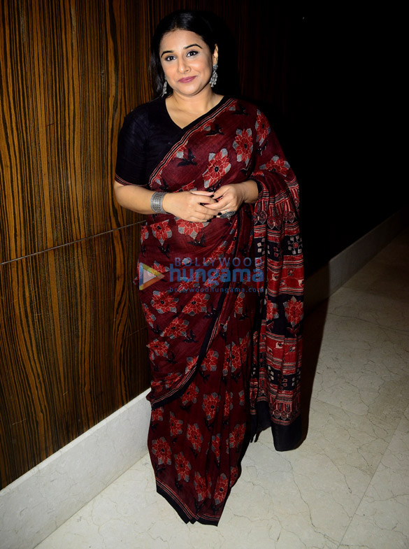 Vidya Balan and Bhumi Pednekar snapped on sets of Rajeev Masand's show