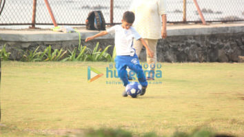Aamir Khan's son Azad Rao spotted playing football