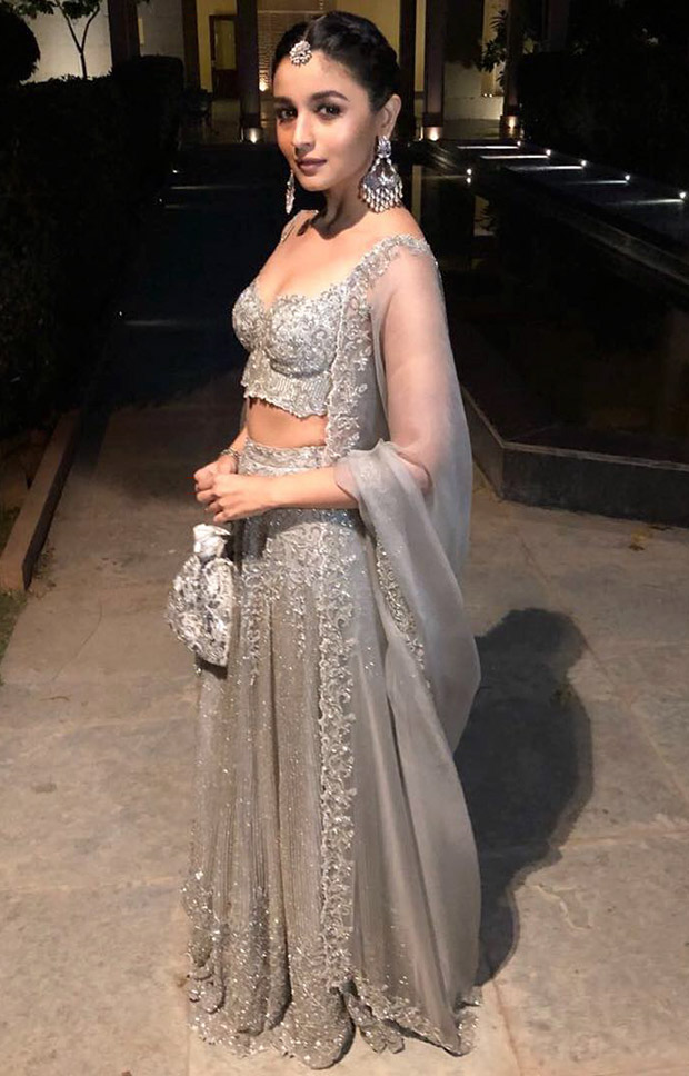 Daily Style Pill: Alia Bhatt looks nothing less than ethereal in a grey lehenga at her BFF's wedding in Jodhpur!