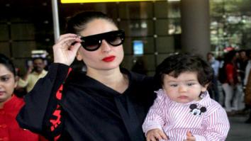 Kareena Kapoor Khan and her son Taimur Ali Khan snapped returning from London