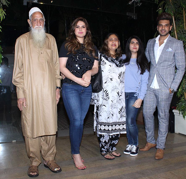 spotted zareen khan attends special screening of 1921 with entire