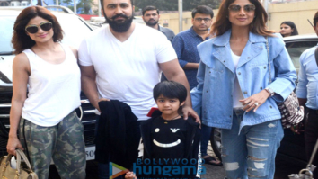 Shilpa Shetty spotted with her family PVR, Juhu